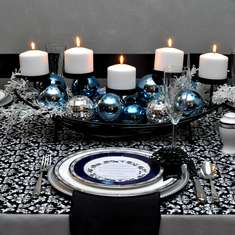 Holiday Table Design 2010 - Formal Damask Holiday