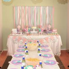 Girly 1st Birthday - Vintage with pink, purple and teal colour scheme