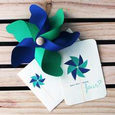 Preppy Pinwheel - Navy and Kelly Green Pinwheel Theme
