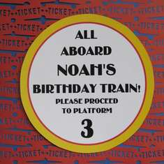 All Aboard Noah's Birthday Train! - Train