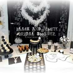 White and Black chic party - white and black and tulle