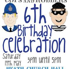 6th Birthday - Cops & Robbers