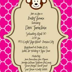 Cala's Monkey Baby Shower - Baby Girl