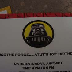 JT's 10th Birthday Party - Lego Star Wars