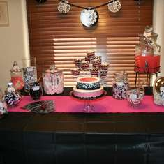 Candy Buffet - pink, blak and white candy