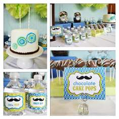 Jake's Little Man Mustache Bash - Mustaches and Ties