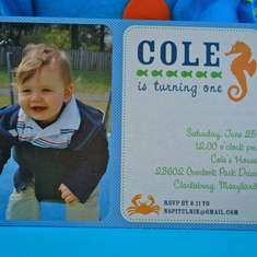 Cole's Sea Creature Soiree - Under the Sea