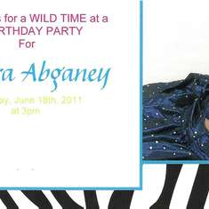 Aneyras 1st Birthday - Colorful Zebra Party