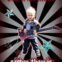 Our little Rockstar is 2! - Rockstar for Boy