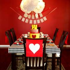 5th Birthday Party - Queen of Hearts/Alice in Wonderland