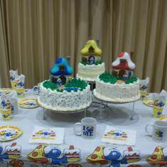 "Jadiel's 2nd ""Smurfday"" - Smurfs"