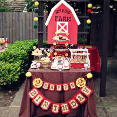 Barnyard Birthday Dessert Table - Barnyard/Farm