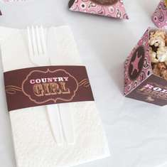 Cowgirl Pink and Brown Birthday DIY Printable Party Kit - None