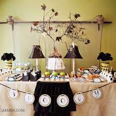 Spooky Chic Halloween Dessert Table - halloween tablescape