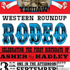 Western Roundup Rodeo - Cowboy and Cowgirl