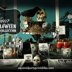 Romantic Gothic Halloween Dinner { Inspiration } Party - Gothic Victorian Halloween Bling Party