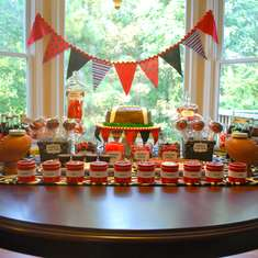 Red & Black Football Dessert Table - University of Georgia Football