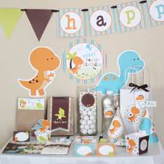 Dinosaurs Birthday Printable DIY Party Kit - None