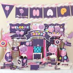 Candy Sweet Shop (Shoppe) Kawaii Birthday Printable DIY Party Kit - None