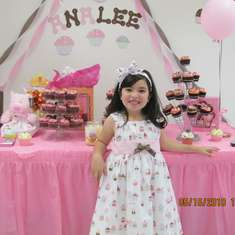 Analee CupCake Birthday Party - Pink and Brown