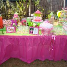 Madelynn's 1st birthday - pink and green cupcake