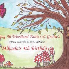 Mikaela's Enchanted Forest Party - Enchanted Forest/Woodland Fairy