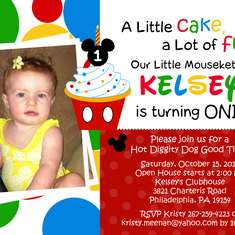 Kelsey Lynn's 1st Birthday - Mickey Mouse Clubhouse or Minnie Mouse