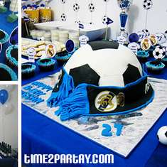 Real Madrid Soccer /Football Themed Birthday Party - Real Madrid, Soccer, Football