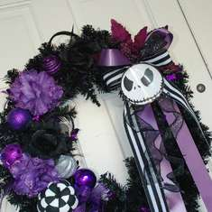 Halloween door entrance - Nightmare Before Christmas