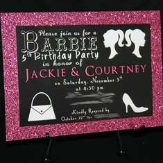 Twin's Barbie Birthday Party - Barbie Glam
