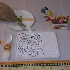 Thanksgiving placesetting for kids - Thanksgiving