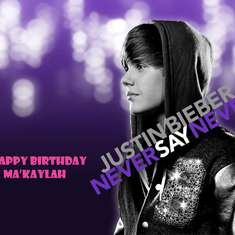 Ma'Kaylah's 5th Birthday - Justin Bieber!