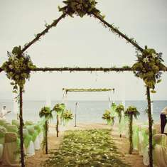 My Lime Green Beach Wedding - beach wedding
