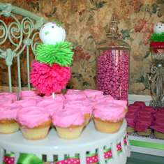 SnowLady Baby Shower - Pink and Green Winter party