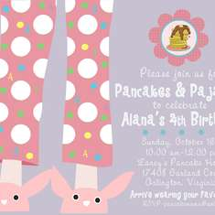 Pancakes & Pajamas Party for Laney - Pancakes & Pajamas brunch birthday