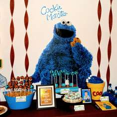 Levi's Cookie Monster 2nd Birthday - Cookie Monster
