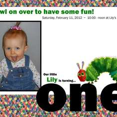 Lily's First Birthday - The Very Hungry Caterpillar