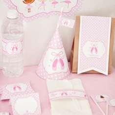 Pink Ballerina Birthday Printable Kit - Ballerina