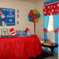 London Tyler 2nd Birthday Party Dr. Seuss Style - Cat in the Hat