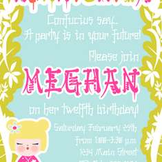 Meghan's 12th Birthday - Asian Style - Harajuku - Japanese