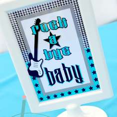 Rock A Bye Baby Shower - Rock n Roll, Guitar, Boy