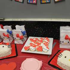 Biolanda and Avianca's 5th and 6th Bday - Hello Kitty RED BOW