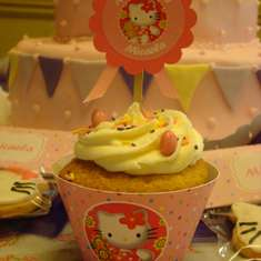 1st Birthday - Hello Kitty, pink