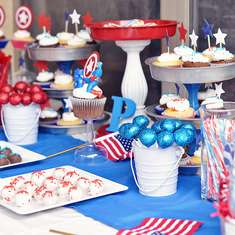 Peyton turns 5 with Captain America - Captain America
