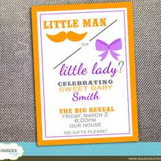 Little Man or Little Lady - moustache and bow party - None