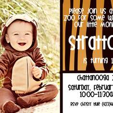 Stratton's First Birthday At The Zoo - Zoo