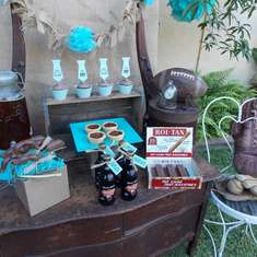 Father's Day dessert table - None