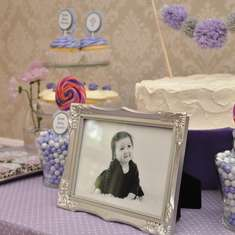 Our Lovely Hannah's Christening - Lavender and Gray