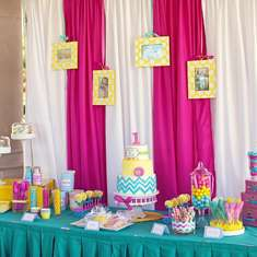 Modern Cheveron First Birthday - Chevron & Polka Dots Party