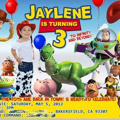 Jaylene's 3rd Birthday! - Toy Story 3